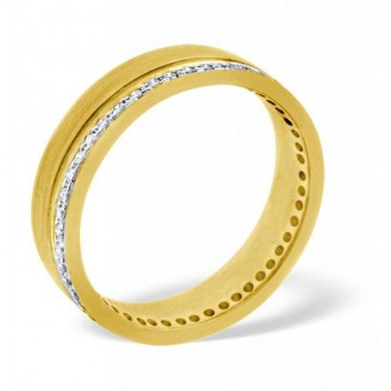 18K Gold 0.27ct H/si Diamond Wedding Band, WB01-27HSY
